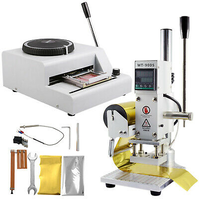 72-character Manual Embosser Hot Foil Machine 8x10cm With Scale Position Slider
