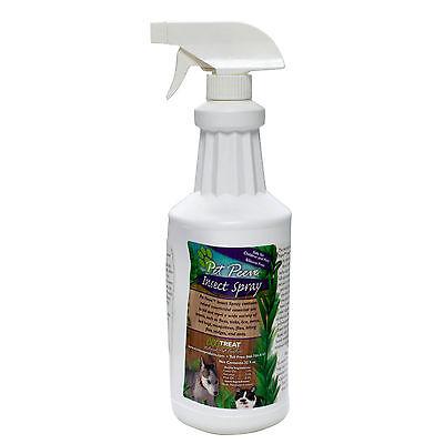 All Natural Cedar Oil Flea Tick Mite Lice Killer Spray 1 QT Use On Dogs & Cats