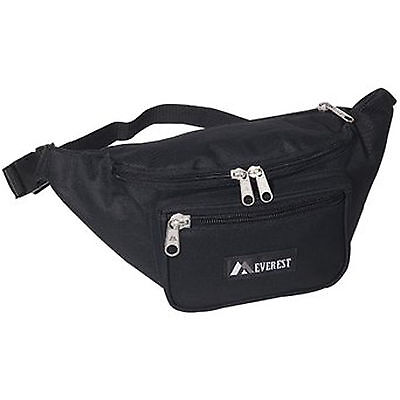 "Everest Signature Waist Fanny Pack - Extra Large - Black 16"" Wide"