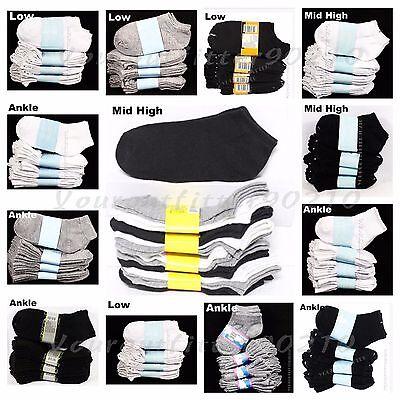 Big Kid Ankle Socks Lot Toddler Boy Girl School Black White Gray0-12 2-3 4-6 6-8