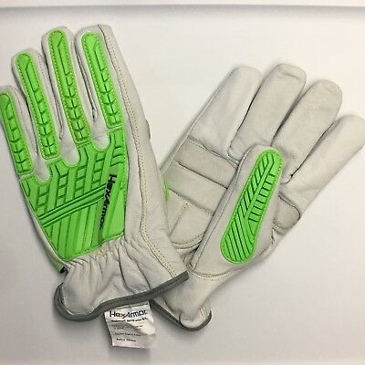 Hexarmor Leather Impact 8010 Oil Resistant Gloves Size 9l Large