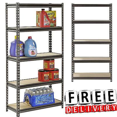 5 Tier Wire Shelving Rack 12x30x60 Heavy Duty Unit Garage Organizer Storage