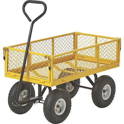 400-Lb. Cap. Steel Outdoor Lawn Garden Pull Wagon Cart Trail