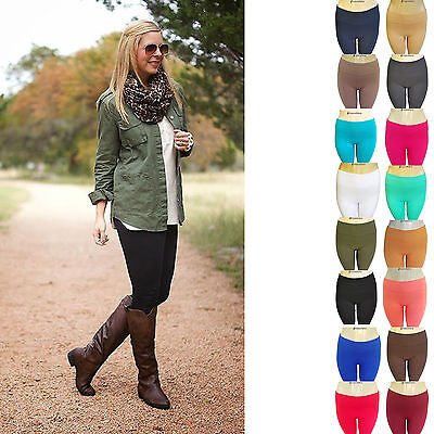 (Fleece Lined Leggings Winter Warm Pants Brushed One Size Thermal Pants Womens)