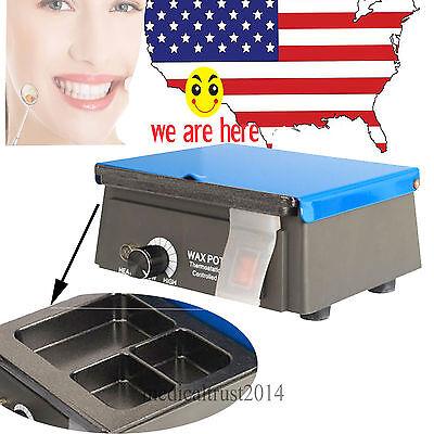 5pc 3 Well Dental Equipment Lab Analog Wax Heater Warmer Pot Melting Machine