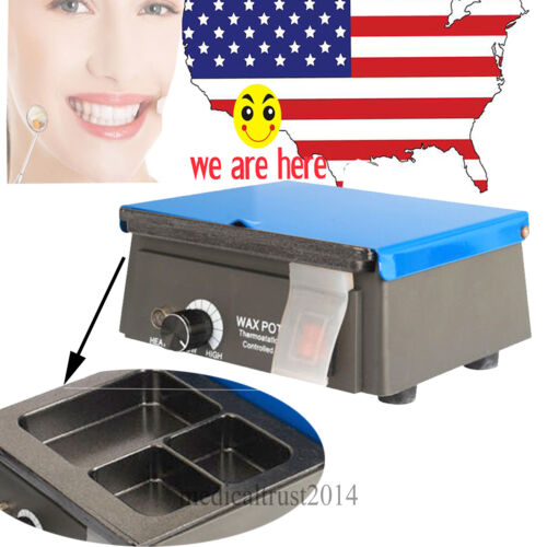 5PC 3 Well Dental Equipment Lab Analog Wax Heater Warmer Pot Melting Machine