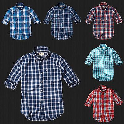 NWT HOLLISTER By Abercrombie Men Boneyard Beach Classic Plaid Shirt All Size