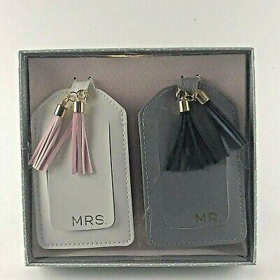 Gartner Studios MR. & MRS. Luggage Tag Set Tassel Wedding Honeymoon Gift Set NIB - Honeymoon Luggage Tag