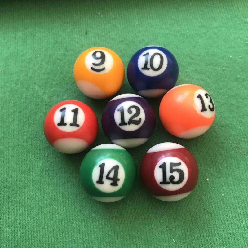 """Mainstreet Classics Table Top Billiards Replacement Striped 1""""  Balls Toy Pool"""