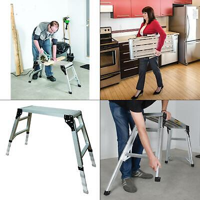 30.75 In. X 11.75 In. Adjustable Portable Work Platform Foldable Aluminum Step