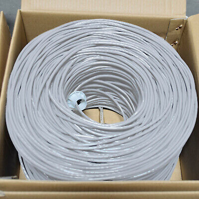 CAT5E CABLE UTP 1000FT GRAY SOLID WIRE BULK ETHERNET LAN NETWORK CAT5 1000 RJ45 Cat5e Solid Utp Network Cable