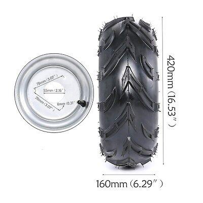 "16X8- 7"" 3 Stud Wheel Rim + Tyre Tire 150cc Quad Dirt Bike ATV Gokart Scooter US"