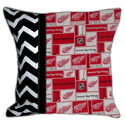 Detroit Red Wings Pillow - NEW NHL Detroit Red Wings Michigan Hockey Decorative Throw Pillow