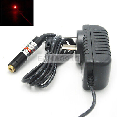 Focusable 635nm 10mw Diode Orange-red Laser Module Dot Locate Light W5v Adapter