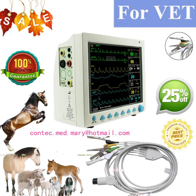 Vet Veterinary Patient Monitor 6 Parameter,ecg,nibp,pr,spo2,temp,resp,ce,fda,hot