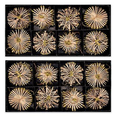80x Strohsterne handgefertigt Ø ca. 6 cm Weihnachtschmuck Baumschmuck Stroh Deko