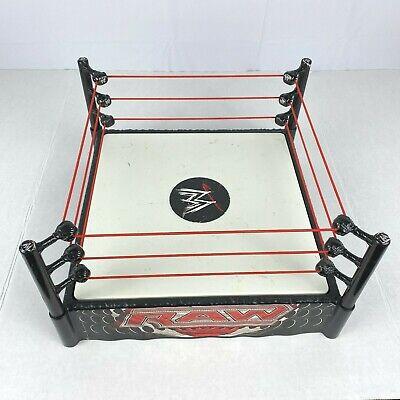 "Mattel 2010 WWE WWF RAW Wrestling Ring Toy Spring Loaded Mat Ropes 12"" P9600"