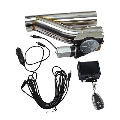"""2.5""""Electric Exhaust Catback Downpipe Cutout E-Cut Out Valve System Kit & Remote"""
