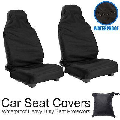 2PCS Universal Heavy Duty Car Van Front Seat Covers Protectors Durable UK