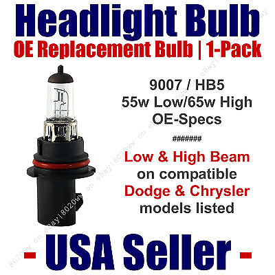 Headlight Bulb High/Low OE Replacement Fits Listed Dodge & Chrysler Models  9007