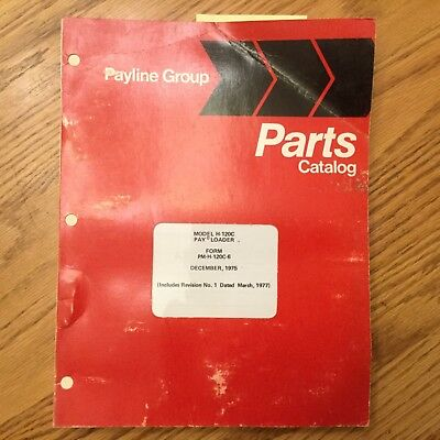 Hough International H-120c Parts Manual Book Catalog Wheel Pay Loader Guide List
