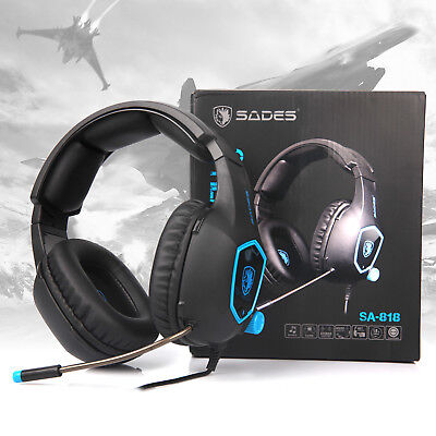 e8f43ca80c49 SADES SA818 Gaming Headset for PS4 Xbox One PC Stereo Sound 3.5mm Headphone  Mic
