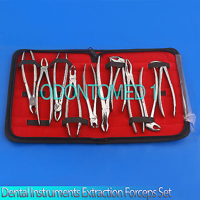 Dental Instrumentsset Of Extraction Forceps English Patern Pkt Of 10 Pcsdn-435