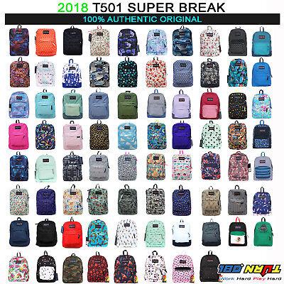 JANSPORT Superbreak Backpack T501 Classic Ultralight School Bag 100% AUTHENTIC