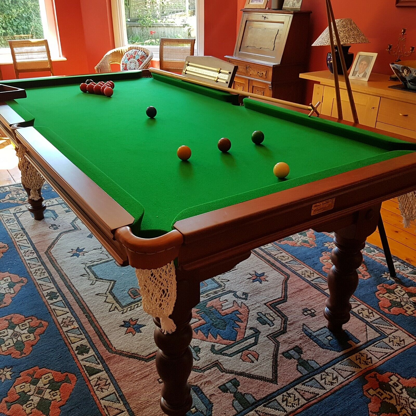 Seven foot snooker/dining table