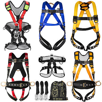 Fall Protection Construction Harness Shock Absorbing Searchers Safety Roofers