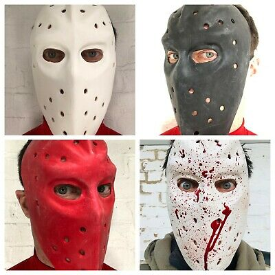 Hockey Maske Latex Gesichtsmaske Hitze Bank Räuber Vs Jason Halloween Kostüm