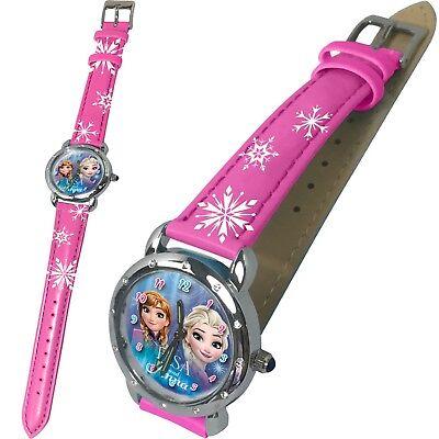 Armbanduhr Kinderuhr Frozen Armband Uhr Disney Kinder Analog Zeiger Elsa (Disney Armband)