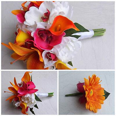 Tropical Artificial Wedding Flowers - Bridal Bouquet - Buttonholes