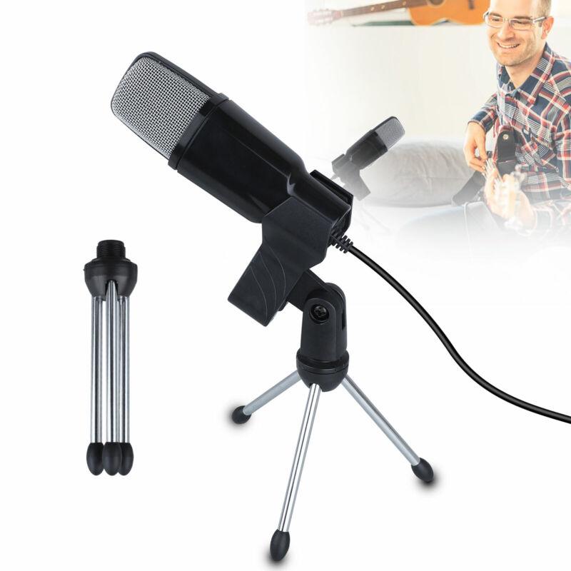 Professional USB Condenser Microphone Studio Sound Recording Mic W Stand tripod