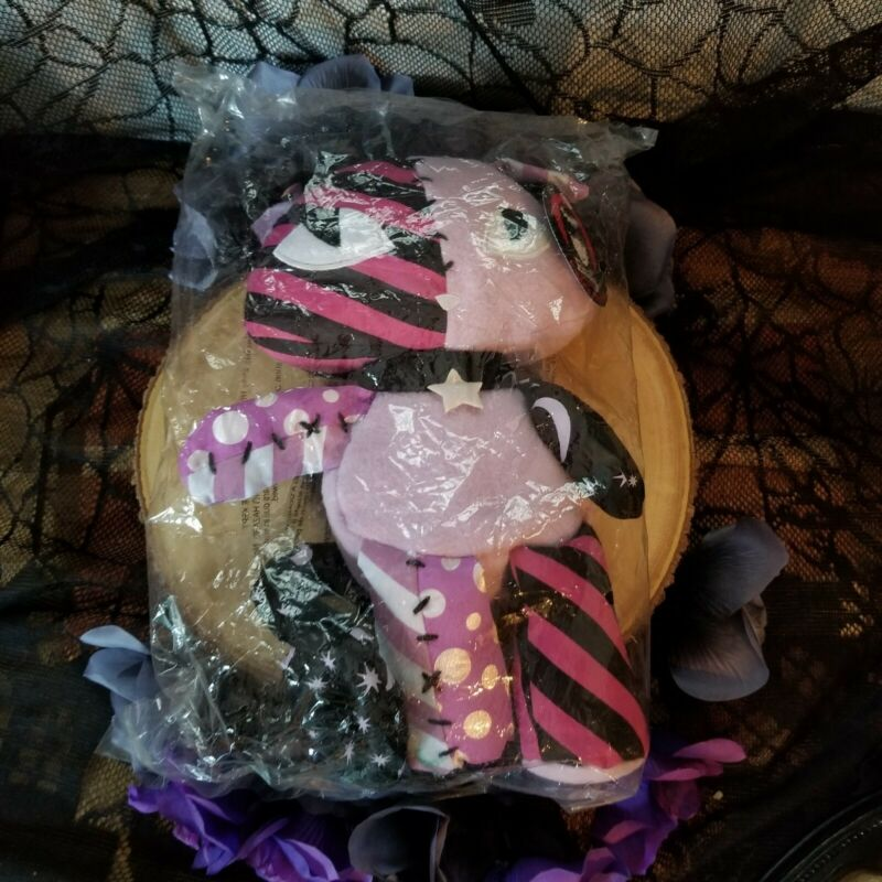 EMILY THE STRANGE - KITTEN PLUSH MYSTERY PATCHWORK PATCHES PURPLE KITTY -NWT CAT