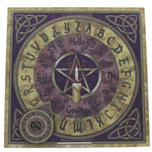 """OFFER...Hand Crafted  /""""Angel Wings/"""" Spirit Board Ouija With Planchette  9 mm"""