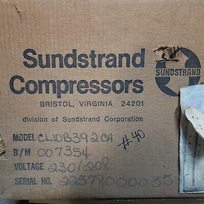 Bristol Sundstrand Cl10b392ca 230208 3900 Btu 34 Hp Compressor Walk In Cooler
