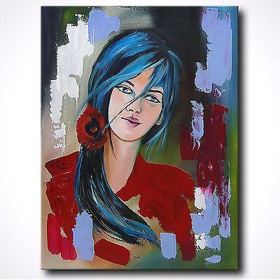 NOVAARTE Gemälde Abstrakt Acryl Bilder modern Kunst Leinwand Bild Frau ORIGINAL