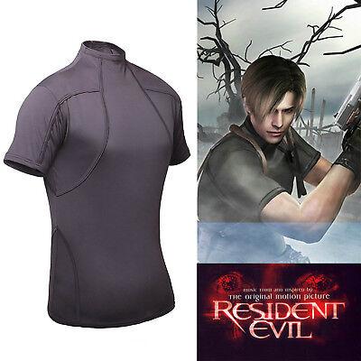 Resident Evil 4 Biohazard Leon Kennedy Gray Tee Cosplay Costume T-Shirt NEW](Biohazard Costume)