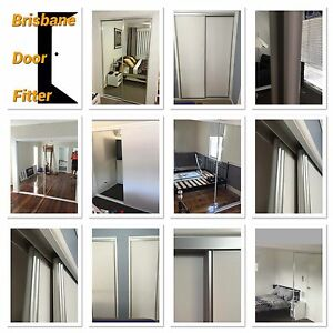 sliding wardrobe mirror or vinyl doors any size brisbane to sunshine