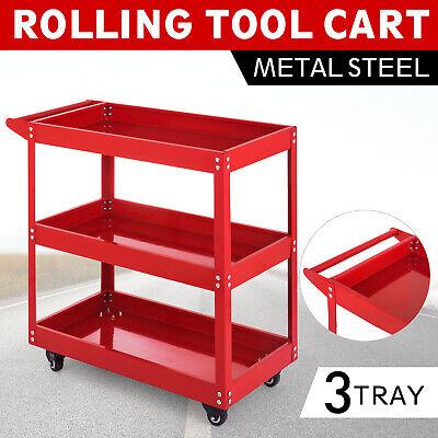 3-Tray Rolling  Storage Utility Tool Cart w/Wheels Workshop