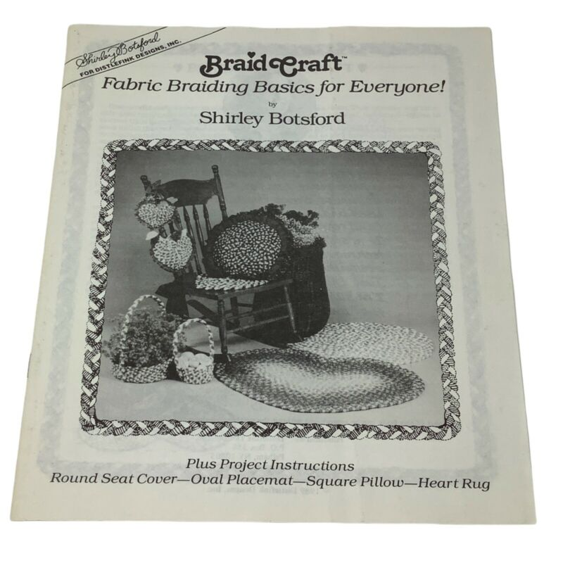Braid Craft Rug Making UNUSED Black & White Instruction Book