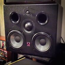 Quested H208 Studio Monitors Speakers, Amp and stands Macleod Banyule Area Preview