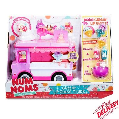 Num Noms Glitter Lip Gloss Truck Vehicle Collectible Girl Kids Toys Set