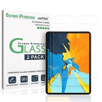 "iPad Pro 11"" (2018) amFilm Premium Tempered Glass Screen Protector (2 Pack)"