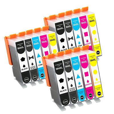 15pk for HP 564 XL Ink Cartridges Set Pack PhotoSmart Plus B209c B210 Printer ()