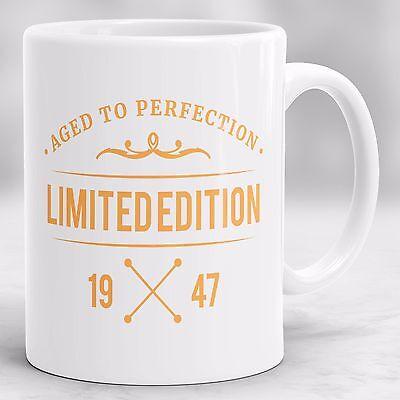 70th Birthday Mug, 1947 Present Gift Idea, Birthday Gift for 70 year old P72 - Birthday Ideas For 70th Birthday