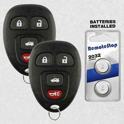 2 For 2005 2006 2007 2008 2009 2010 Chevrolet Cobalt Keyless Remote Car Key Fob