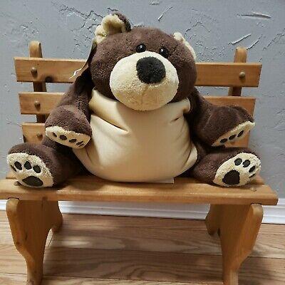 Woolrich Kids Plush Brown Grizzly Bear Stuffed Animal Toss Pillow