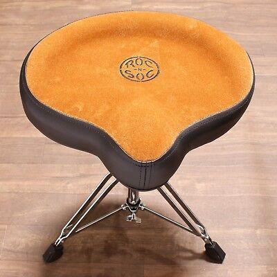 Arbor Seat - Roc-n-Soc Drum Throne Manual Spindle - Original Saddle Seat TAN MS O-T